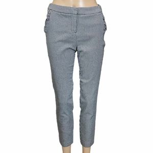 CYNTHIA ROWLEY Houndstooth Cropped Skinny Pants